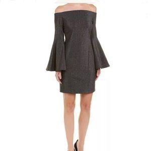VINCE CAMUTO Shimmer Luxe Off Shoulder Dress